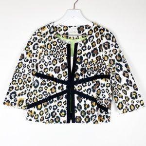 Line & Dot leopard print cropped blazer A2